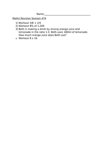 MATHS REVISION SESSION 474
