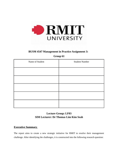RMIT LF03 Group 61 - MIP Assignment 3(a) Group Report