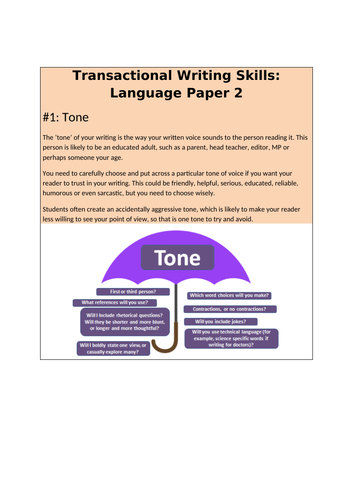 Transactional Activity Booklet