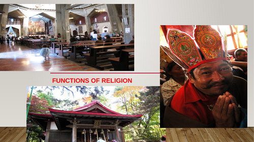 Functions of Religion: structural and  functionalist approacch to functions of religion