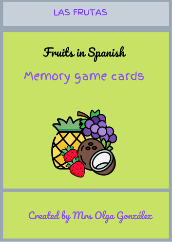 Fruits in Spanish - Memory Game
