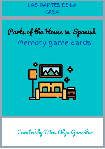 Parts of the House in Spanish - Memory Game