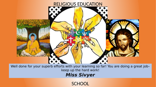 Religious Education Positive Postcard (template for personalised edit)