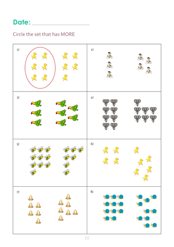 More than and less than Worksheet