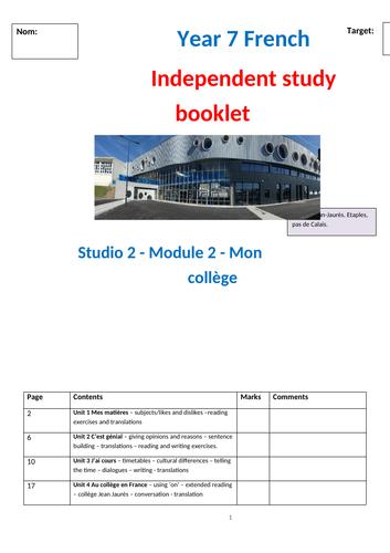 Studio 2 Module 2 mon college independent study workbook
