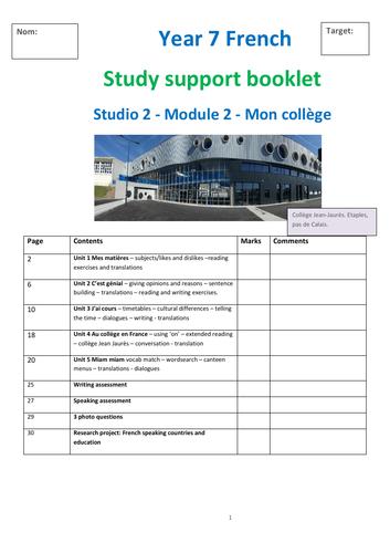 Studio 1 Module 2 Mon college study support booklet