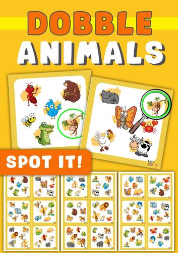 Spot it! Dobble ! Spy! Seek it! ANIMALS Game