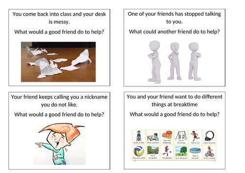 PHSE Friendship Scenario Cards