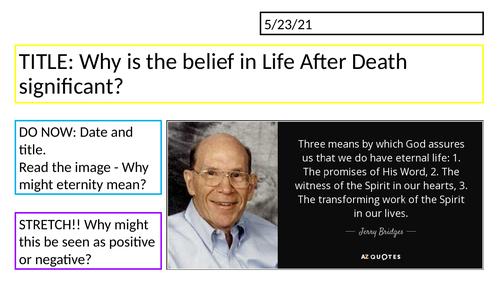 Edexcel Religious Studies Spec B // Importance of Life After Death