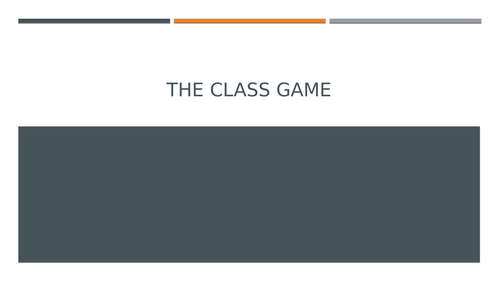 The Class Game
