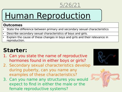 Human reproduction AQA science trilogy Biology GCSE