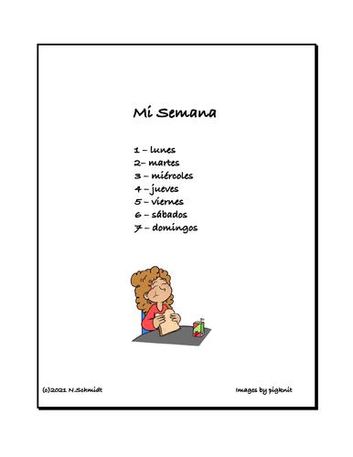 Spanish Beginner Reader: La Semana de Lucía   7 Lecturas Breves (100% Spanish)