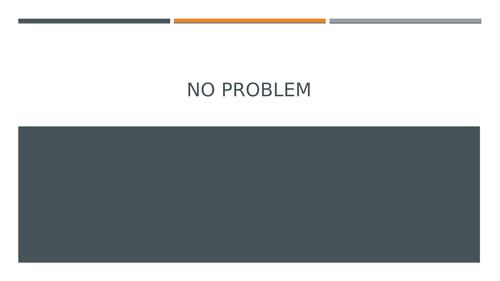 No Problem: Poetry