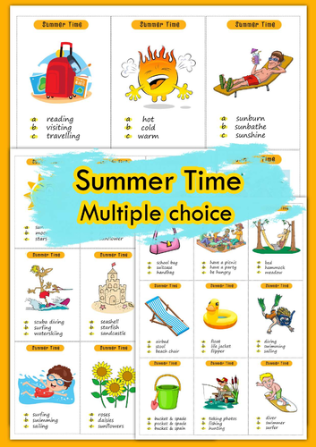 Summer Time Multiple choice