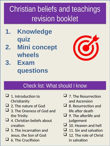 RE AQA Spec A: Revision booklet Christian beliefs