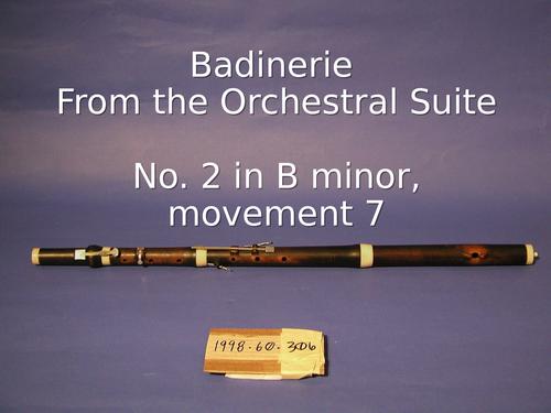 Bach's Badinerie