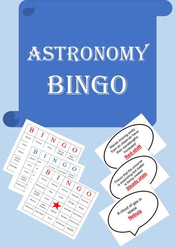 Physics Bingo: Astronomy/Space