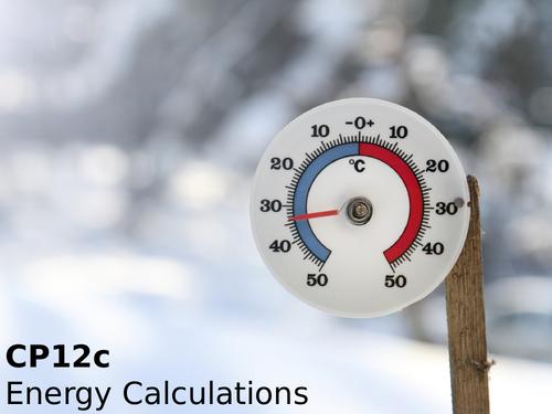 Edexcel CP12c Energy Calculations