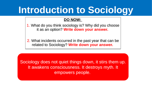 A Level Sociology Families: Introduction