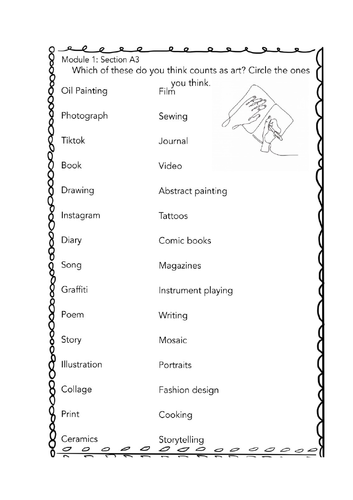 Expressive Arts Short Course Module Pack