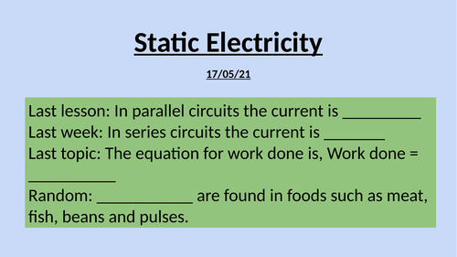 KS3 Electricity complete unit
