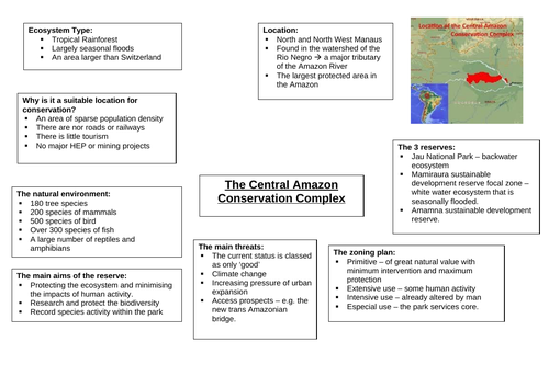 Ecosystems Revision - Eduqas A-Level Geography