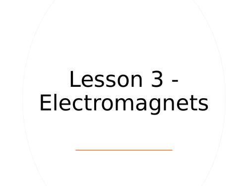 KS3 Science | 3.2.3-4 Magnetism - Lesson 3 - Electromagnets  FULL LESSON
