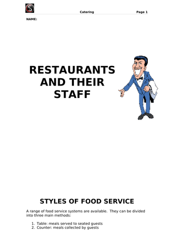 Restaurants and their Staff