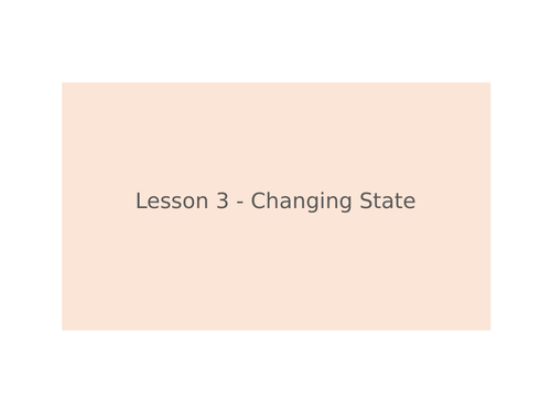 KS3 Science | 3.5.1 Particle model - Lesson 3 - Changing state FULL LESSON