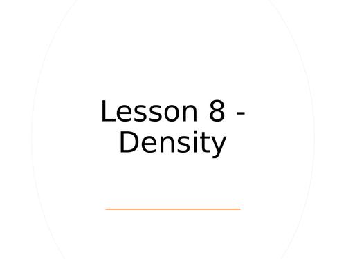 KS3 Science | 3.5.1 Particle model - Lesson 8 - Density FULL LESSON