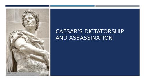 Julius Caesar's Dictatorship and Assassination