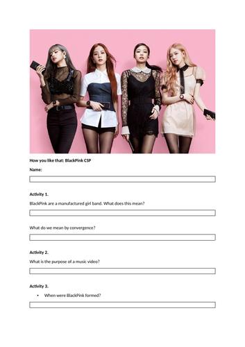 BlackPink: How you like that - AQA GCSE Media Studies Close Study Product
