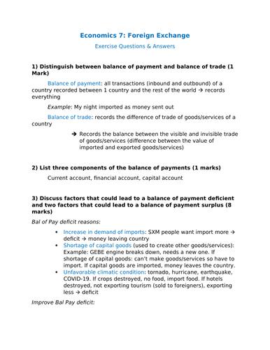 Economics 7: Foreign Exchange