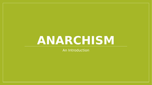 Introduction to Political Ideology