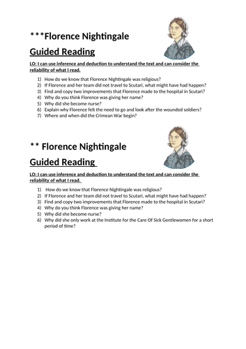 Florence Nightingale Guided Reading