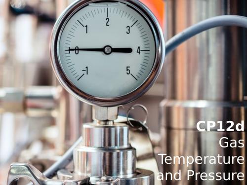 Edexcel CP12d Gas Temperature and Pressure