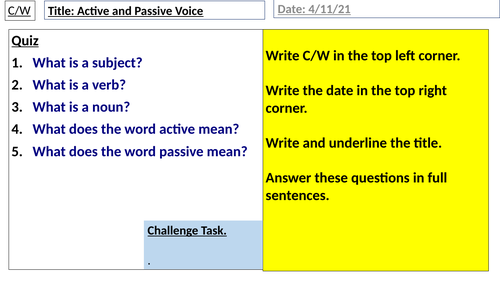 Active and Passive Voice 2