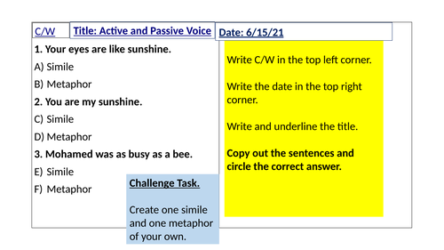 Active and passive voice 3