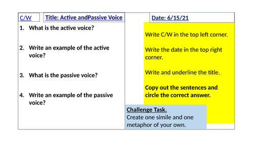 Active and passive voice 4