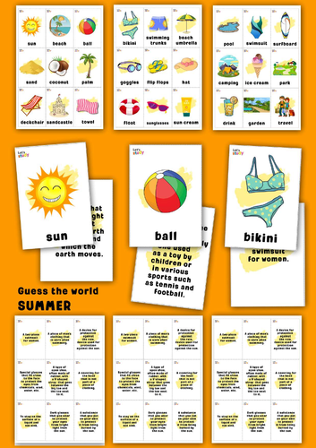Summer. Guess the word game.