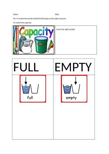 capacity-worksheet