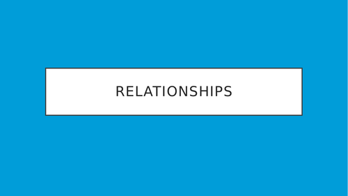 GRADE 9 - RELATIONSHIPS LESSON POWERPOINT - WJEC RS GCSE