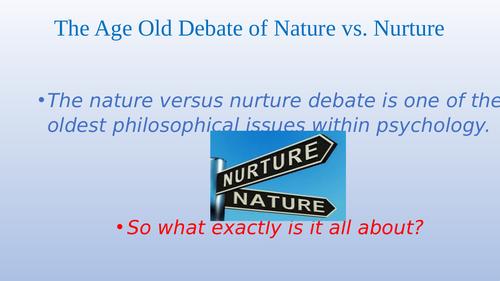 Nature Vs Nature Debate in Sociology