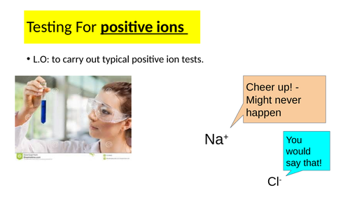Edexcel Testing positive ions in solution