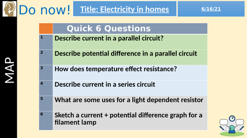 Electricity in the Home (GCSE 9-1 AQA)