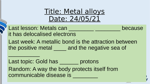 Bonding (covalent and metallic) complete unit