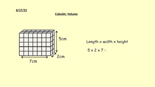 Volume of Cubes and Cuboids - Full Lessons