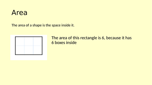 Area of A Square and Rectangle - Full Lesson