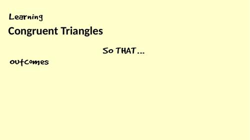 Congruent Triangles Lesson