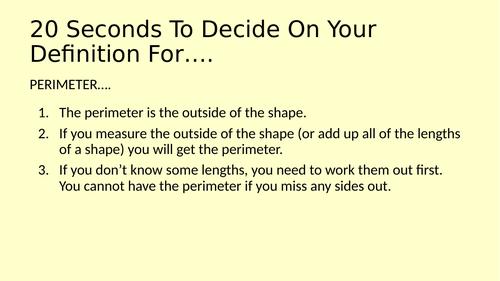 Perimeter of 2D Shapes - Full Lesson